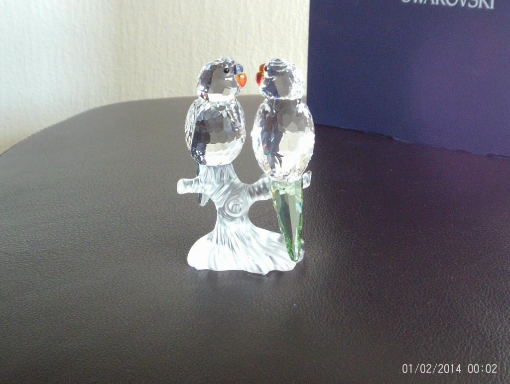 a9a6c4f83 SWAROVSKI SILVER CRYSTAL ANIMALS - BUDGIES 680627 - Crystal By Chris